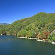 紅葉の川俣湖