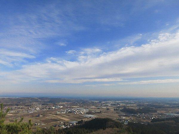 男抱山頂上の眺め(栃木県宇都宮市)
