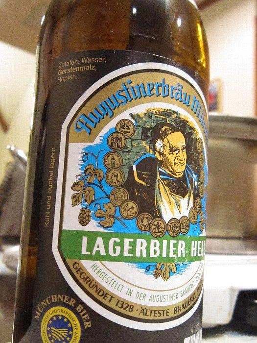 ビール(Augustiner Helles、アウグスティナー・ヘレス)
