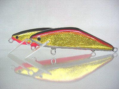 ゴールドボディのYSミノー(85mm、15g、HS)(2009/2/10)