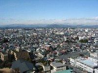 栃木県庁の最上階からの眺望