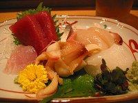 和食かみやまの刺身盛り合わせ