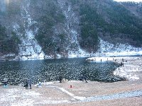 東古屋湖の様子(2008/12/29)