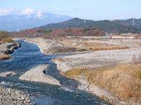 鬼怒川上平橋上流の河川工事(2009年12月6日撮影)