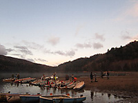 大会開催直前のボート置き場の様子