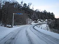 雪道、菅沼付近