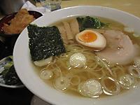 夕食「ラーメン&タレカツ丼」