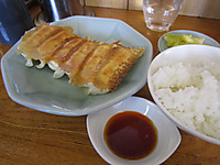 みんみんの焼き餃子&ライス
