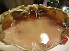ワタリガニの甲羅酒