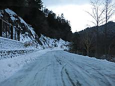 圧雪状態の菅沼付近(2012年11月24日)