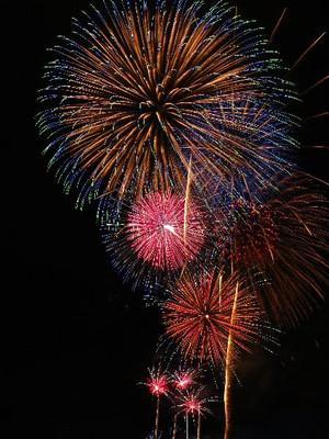 コンデジで撮影した宇都宮花火大会の打ち上げ花火