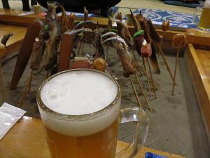 民宿・福冨士の囲炉裏料理