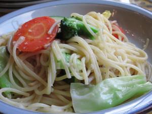 花農場あわの・野菜いっぱいのスパゲッティ