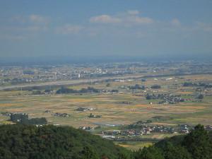 羽黒山荘 田楽茶屋から一望できる関東平野