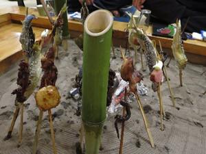 民宿「福冨士」の囲炉裏料理