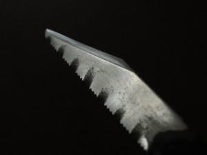 金鋸で自作した小刀(ナイフ)
