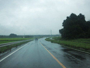 雨中のドライブ