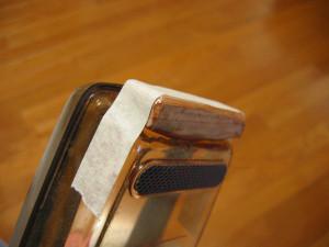 鰹節削り器の改良・改造、木片の接着