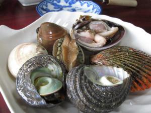 焼き貝の盛り合わせ