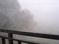 雪の東古屋湖