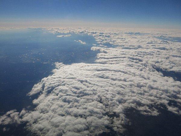 下北半島上空