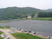 那珂川(那須烏山市)の様子(2010/06/26)