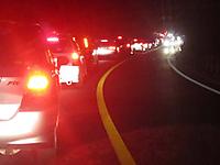 中禅寺湖付近の渋滞