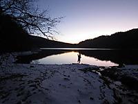 夕暮れの丸沼