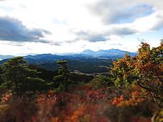 本山頂上からの日光連山の眺め