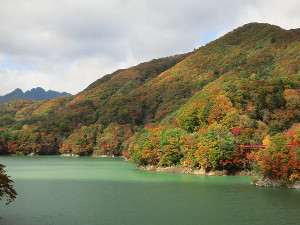 川俣湖の紅葉