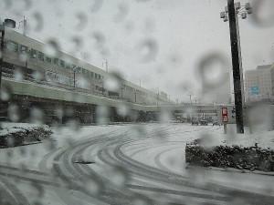 大雪(JR宇都宮駅前)