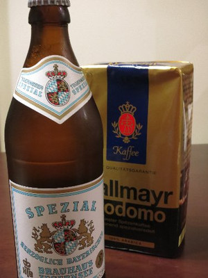 ドイツ土産のビールとコーヒー