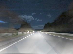 深夜の日光宇都宮有料道路