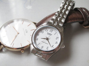 長女の就活用の腕時計「チプカシ(カシオのレディース用腕時計 LTP-1129AA-7BJFLQ-139)」